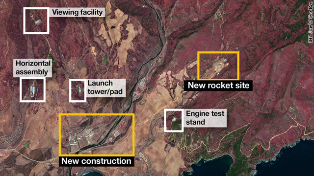 Satellite images show North Korea building rocket launch pad