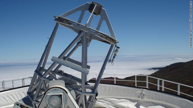 New German telescope stares at the sun