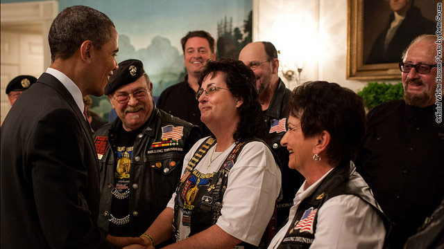 Obama welcomes Rolling Thunder to White House