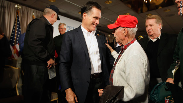 Poll: Romney leads Obama among veterans