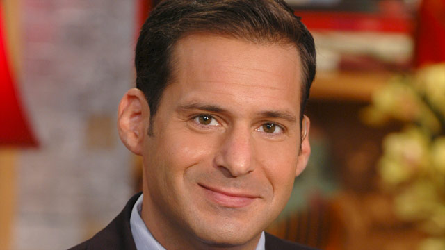 The 50-year old son of father (?) and mother(?), 186 cm tall John Berman in 2017 photo
