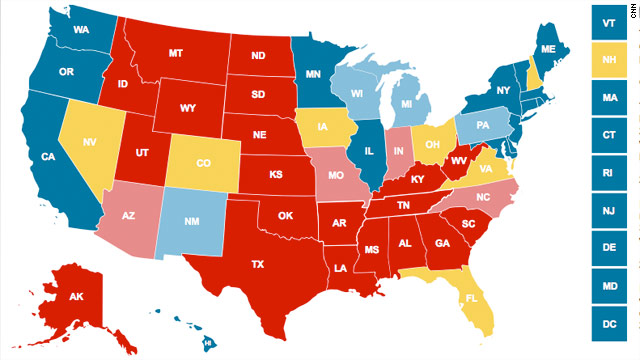 CNN Electoral Map: Seven states up in the air in fight for White ...