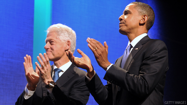 Clinton and Obama hit up the Big Apple