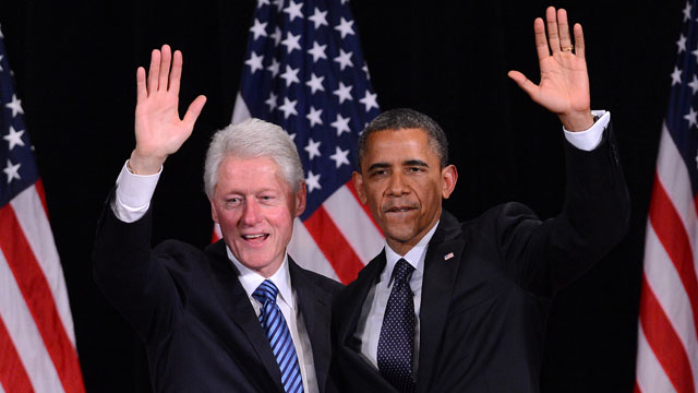 Obama and Bill Clinton together again but on the same page?