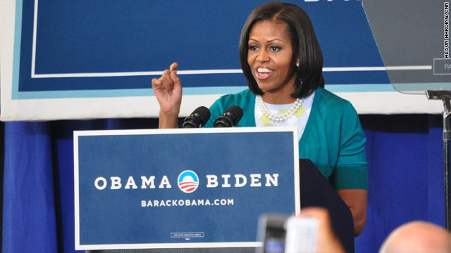 Michelle Obama fires up crowd in Philly
