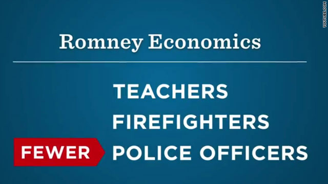 Democrats say Romney doesn't support firefighters, teachers, police