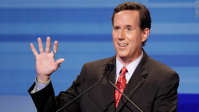 Santorum details 'dual mission'