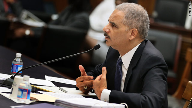No criminal prosecution of Holder for contempt