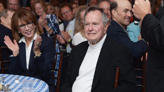 Bush 41 mending, watches football in hospital