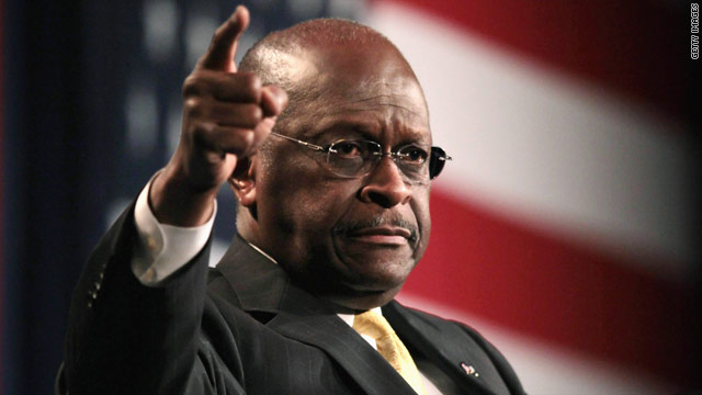 Back in the spotlight, Cain invokes rabble-rousing routine