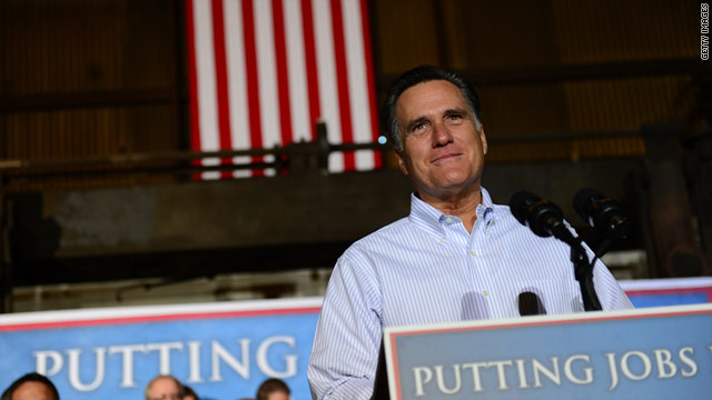 Romney to address jobs at 10 a.m. ET