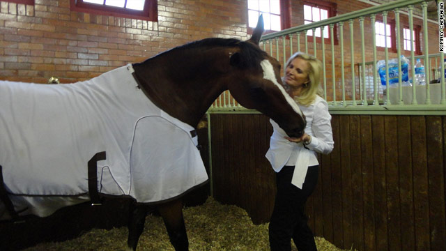 Ann Romney 'excited' her horse Olympic-bound