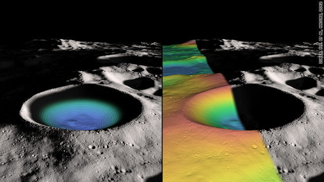 Moon may have frozen water in south pole crater, study says