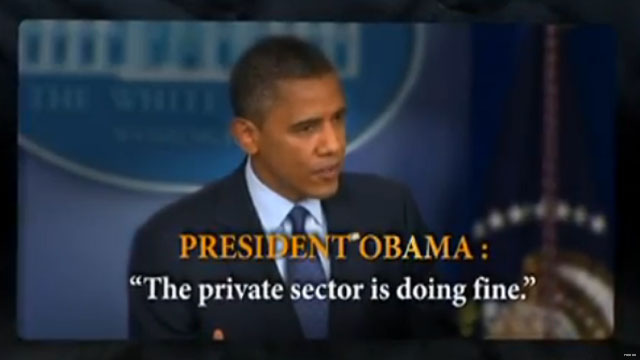 Pro-Romney super PAC keeps attacking Obama's 'private sector' gaffe