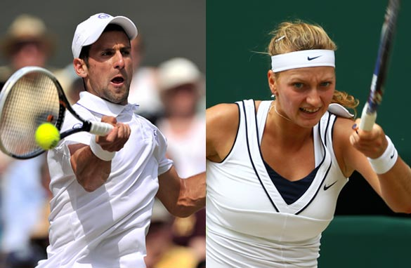 First-time Wimbledon winners Novak Djokovic and Petra Kvitova will bid to retain their titles in the next fortnight.