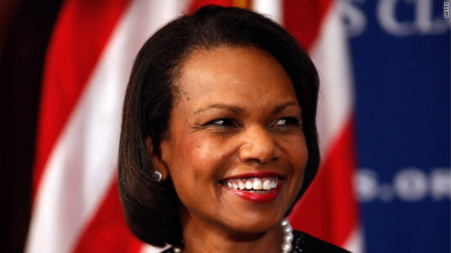 Condi Rice speculation stokes conservative reaction