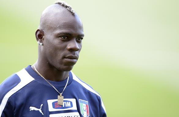 Mario Balotelli has played in all four of Italy's Euro 2012 matches.