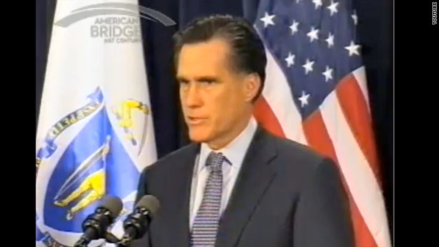 Old video shows Romney lauding (old) health care mandate