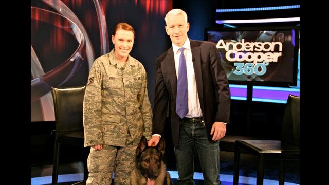 Tonight on AC360: Bringing military dogs home