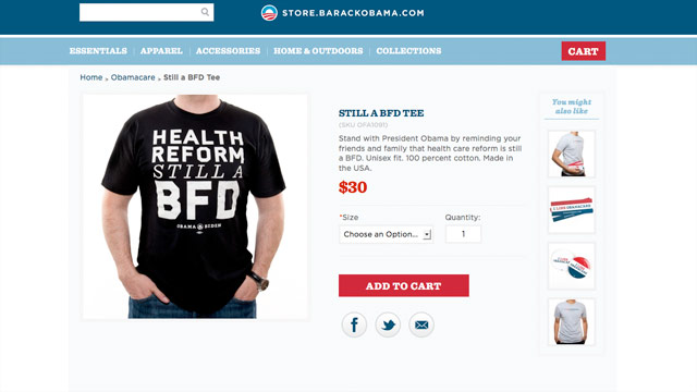 GOP: No LOL over OFA&#039;s &#039;BFD&#039; T(-shirt)