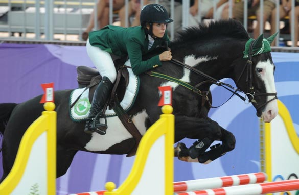 Dalma Rushdie Malhas will not be the first Saudi female Olympian as her horse is injured.