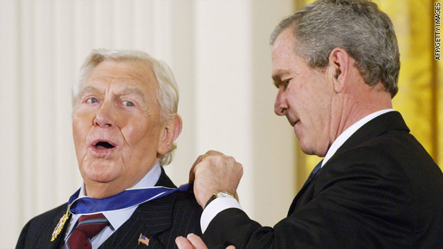 White House mourns the death of Andy Griffith