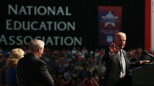Biden: Romney&#039;s assault on teachers