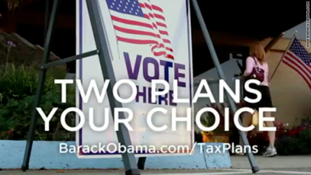 New Obama ad draws tax plan contrast
