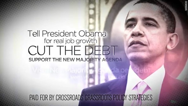 Crossroads up with second spot attacking president over jobs report