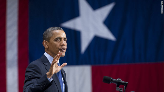 Obama picks up campaign cash in the Lone Star State