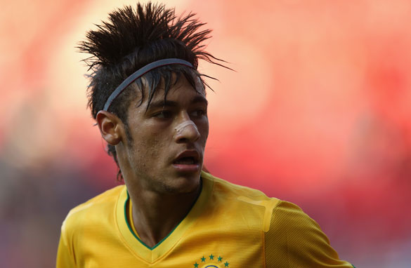 Star striker Neymar scored in Brazil&#039;s Olympic warmup win over London 2012 hosts Great Britain. (Getty Images)