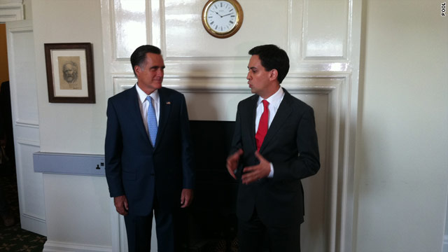 Romney foreign swing underway as candidate meets with British leaders