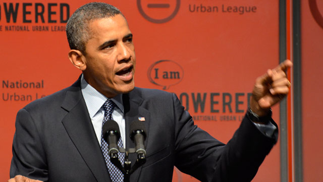 Obama takes on gun violence in Urban League speech