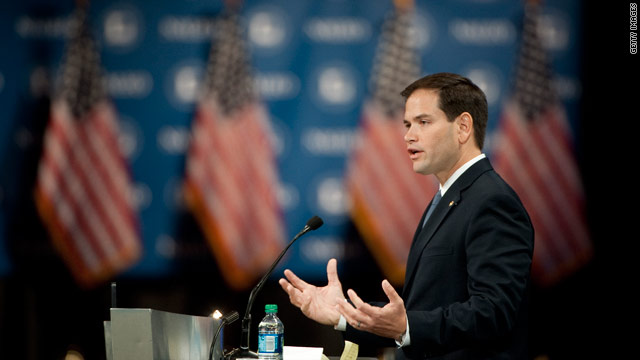 Rubio phones into campaign event after plane makes emergency landing