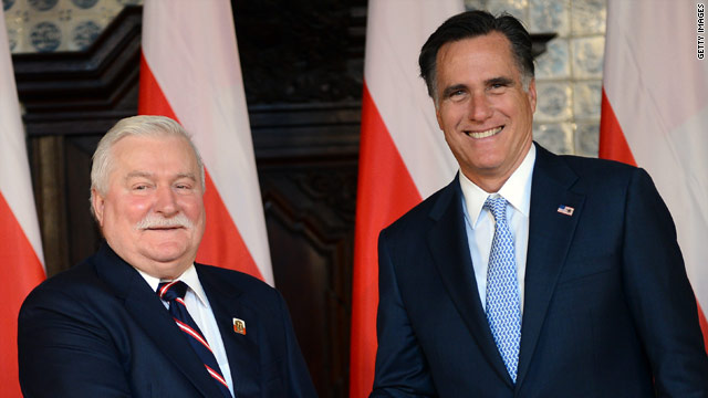 In Poland, Romney gains support of iconic Solidarity leader