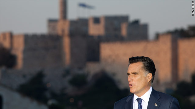Romney defends 'culture' remark, which drew Palestinian ire