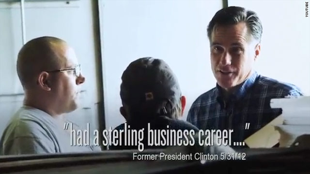 Romney quotes Bill Clinton in new ad about experience