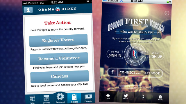 Campaigns debut mobile apps