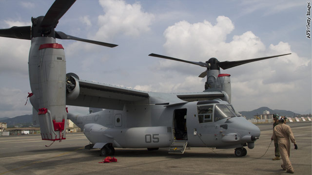 Marines in Japan won't be flying the V-22 Osprey for a while