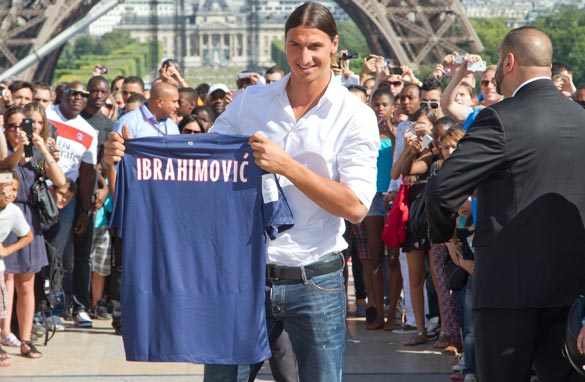 Swedish star Zlatan Ibrahimovic has symbolized PSG's lavish spending. (Getty Images)