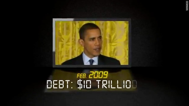 Conservative group's new ad hits Obama over national debt