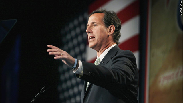 Santorum dreaming of a red, white and blue Christmas