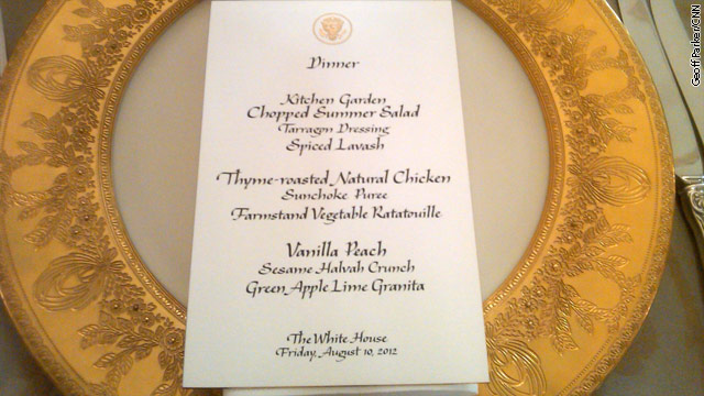 Obama's Iftar dinner menu