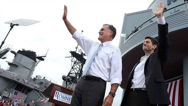 Who ranks higher on the charisma scale, Mitt Romney or Paul Ryan?