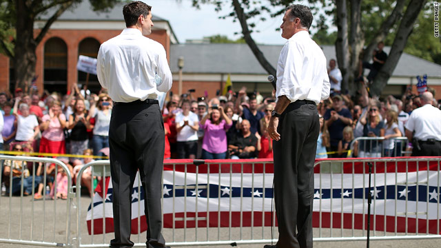 Romney, Ryan to campaign together Sunday