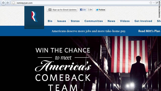 Ryan's name added to Romney web address