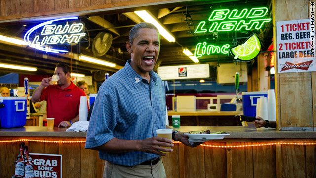 POTUS buys a round of beers at Iowa State Fair