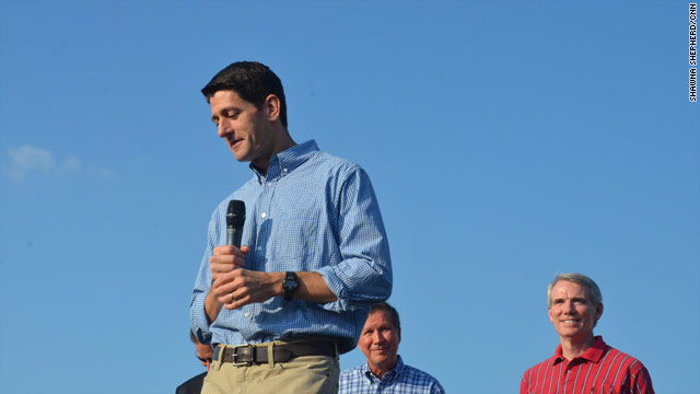 V.P. contenders Portman, Ryan come together in Ohio