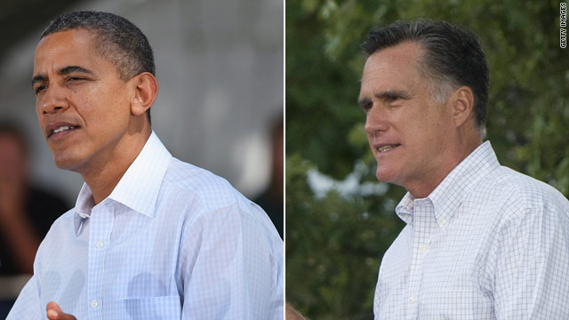 Romney, Obama tied up in three swing states
