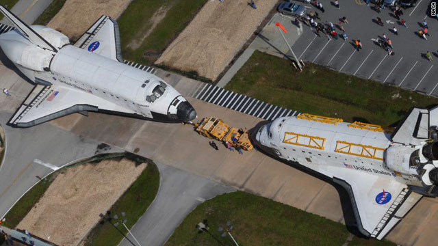Shuttles Come Nose-to-Nose